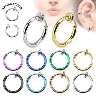 Fake-Septum, -Nasenring, -Ohrring Feder