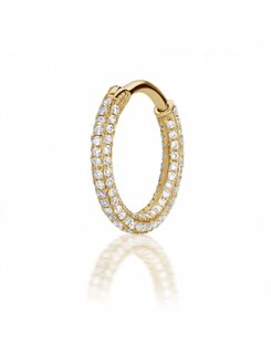 Maria Tash 9,5mm Diamond Five Row Pave Ring (Top Hinge)