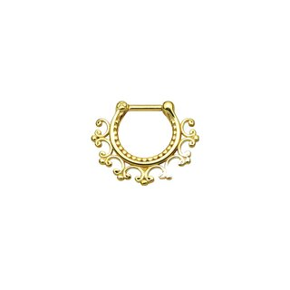 Laced Edge Tribal Chirurgenstahl Septum Clicker