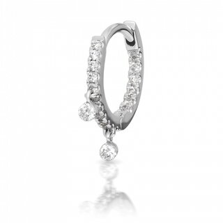 Maria Tash 8mm Diamond Eternity with Dangles